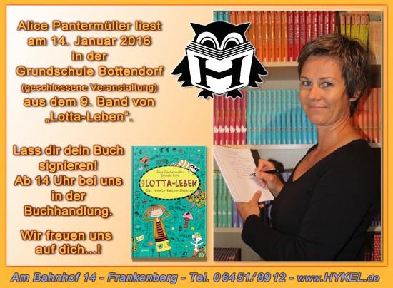 Lesung mit Alice Pantermüller