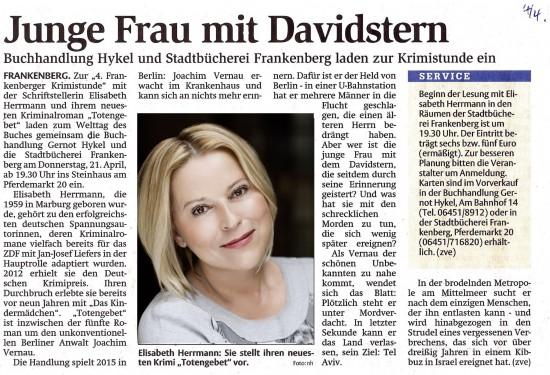 Frankenberger Allgemeine v. 04.04.2016